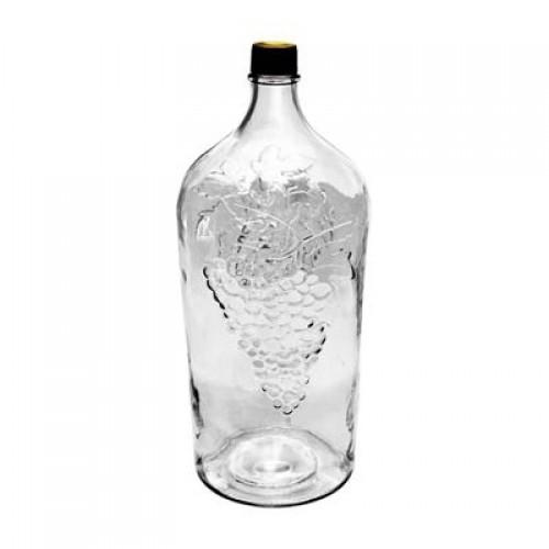 """Бутылка стекло """"Виноград"""" с пробкой, 2 л"""