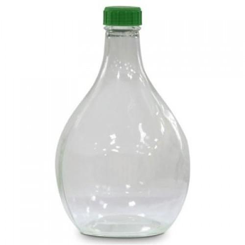 """Бутылка стеклянная """"Дамижана"""" с пробкой, 3 л"""