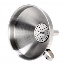 Воронка с фильтром 13см, нержавеющая сталь 304