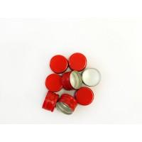 Пробка винтовая алюминиевая 28 ММ Красная