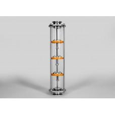 Тарельчатая колонна D75 - Добрый Жар - 3 палубы 3 колпачка 1.5 дюйма