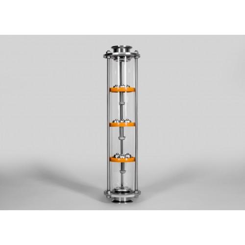 Тарельчатая колонна D90 - Добрый Жар - 3 палубы 3 колпачка 2 дюйма